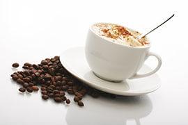 das Bild zeigt einen Cappuccino