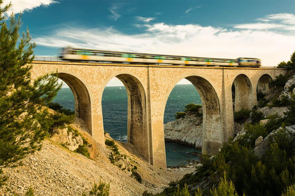 Das Viadukt Calanque de Niolon