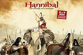 Das Veranstaltungsplakat zeigt Hannibal auf einem Elefanten