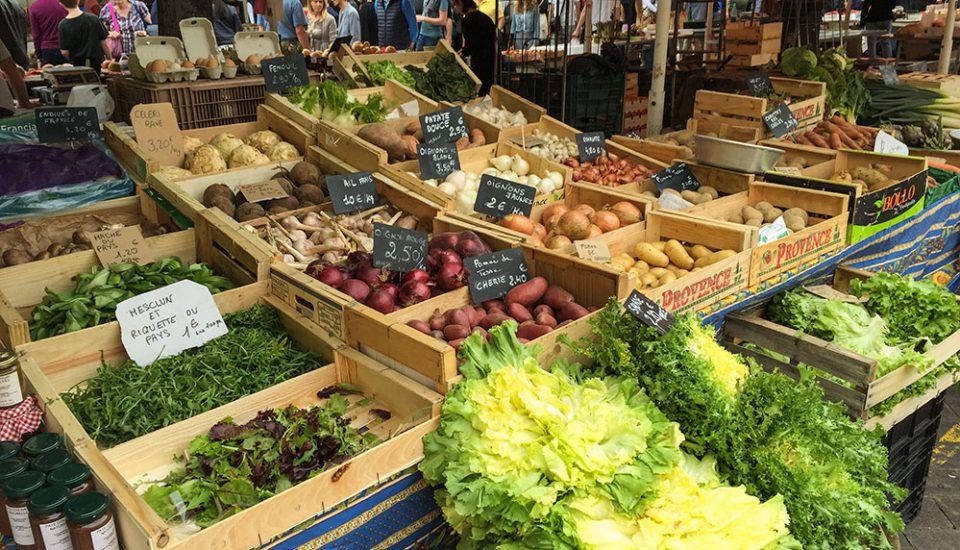 Gemüse Marktstand in Nizza © Siegbert Mattheis