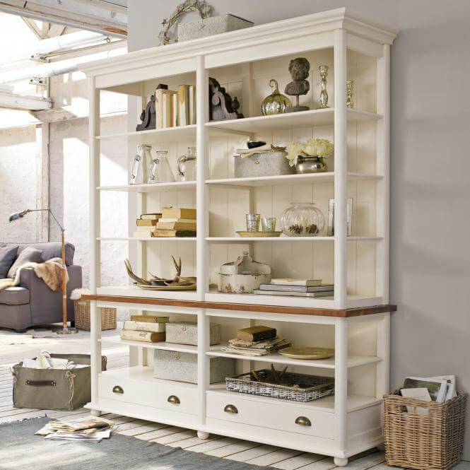 wei es regal franz sischer landhausstil amb mediterran. Black Bedroom Furniture Sets. Home Design Ideas