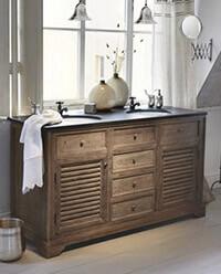 mediterrane und nostalgische b der wannen waschtische. Black Bedroom Furniture Sets. Home Design Ideas