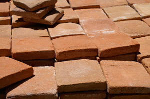 Mediterrane Terracotta, gebrannte Erde