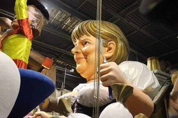 Angela Merkel war 2014 als Pappfigur dabei! © Siegbert Mattheis