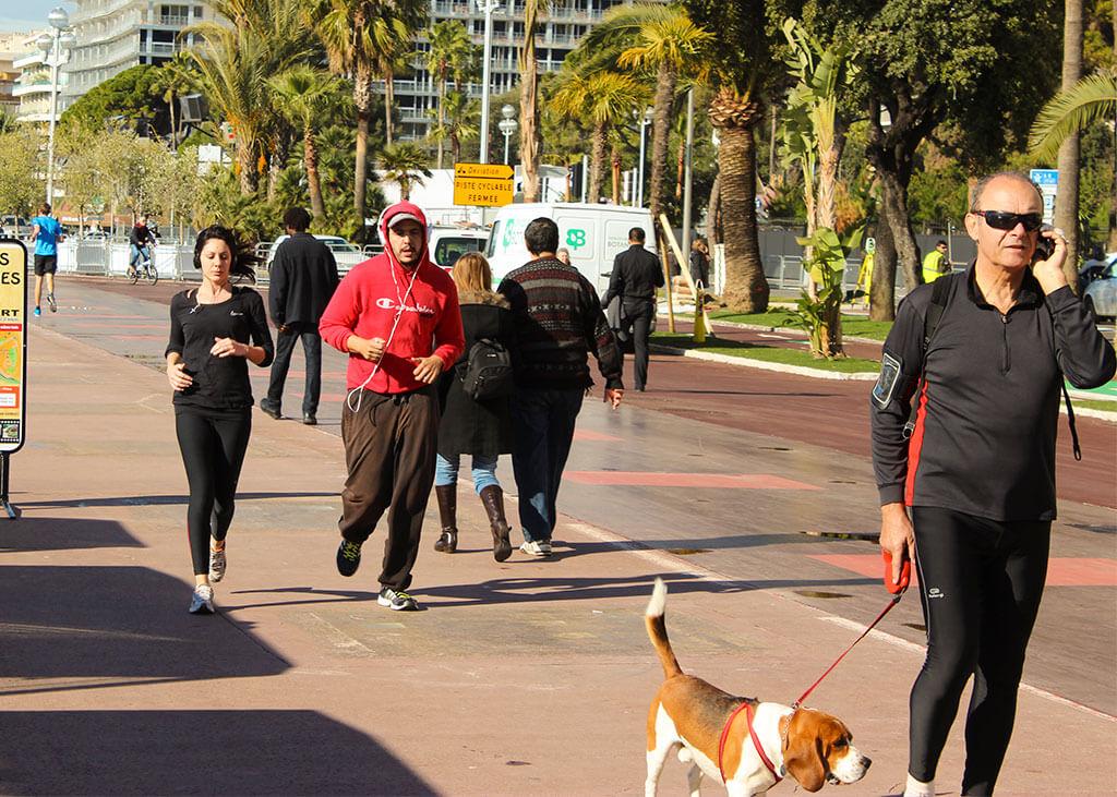 Jogger auf der Promenade in Nizza © Siegbert Mattheis