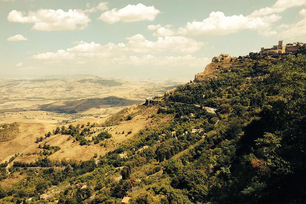 Sizilien-Enna-Ausblick