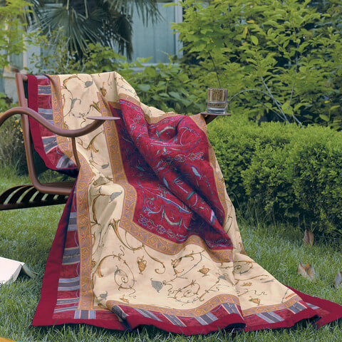 bassetti granfoulard plaid oplontis ambiente mediterran. Black Bedroom Furniture Sets. Home Design Ideas