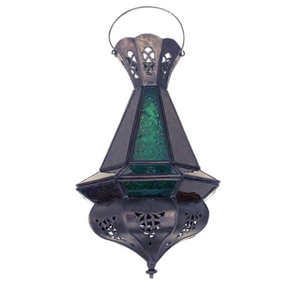 laterne mini tria khalid inkl glas gr n antik. Black Bedroom Furniture Sets. Home Design Ideas