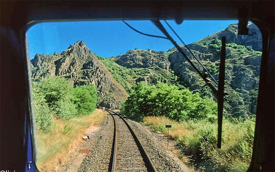 Ein Blick aus der Allierschluchtbahn