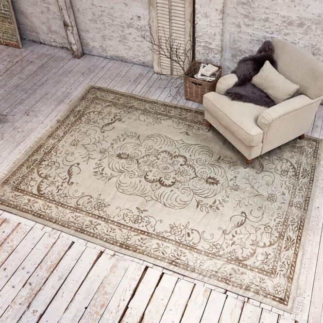 teppich faymont in beige gr n ambiente mediterran. Black Bedroom Furniture Sets. Home Design Ideas