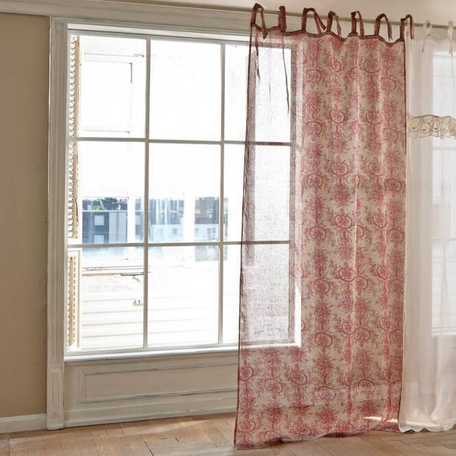 gardine mancy ambiente mediterran. Black Bedroom Furniture Sets. Home Design Ideas