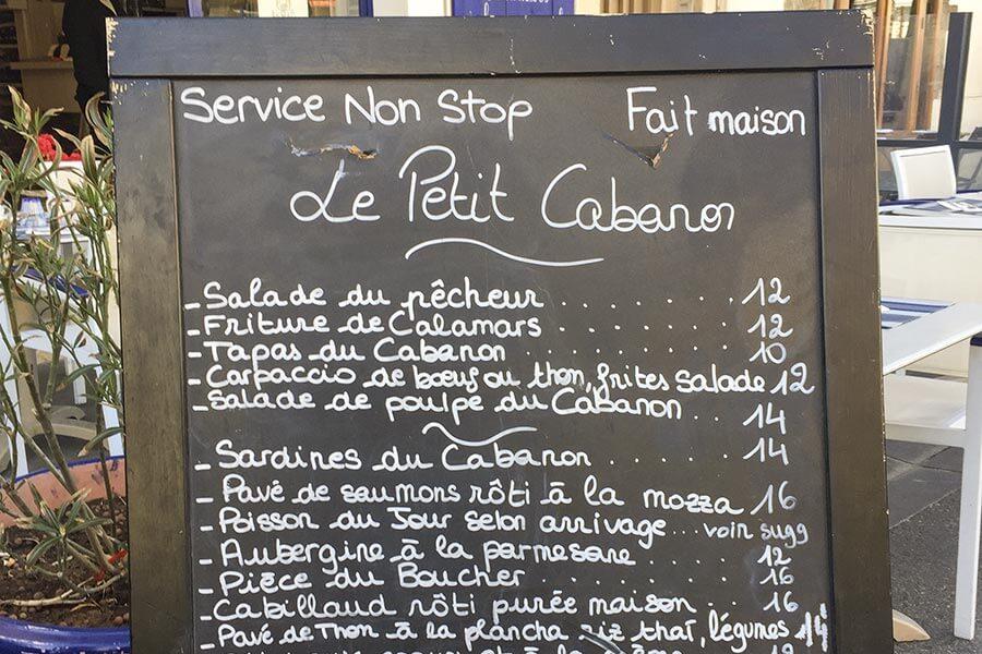 Karte Le Petit Cabanon © Siegbert Mattheis