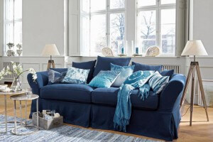 Cheap Blaues Sofa Worcester With Sofa Mediterran
