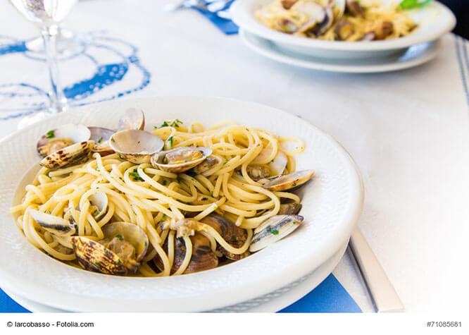 Typische Köstlichkeit in der Toskana: Spaghetti Vongole