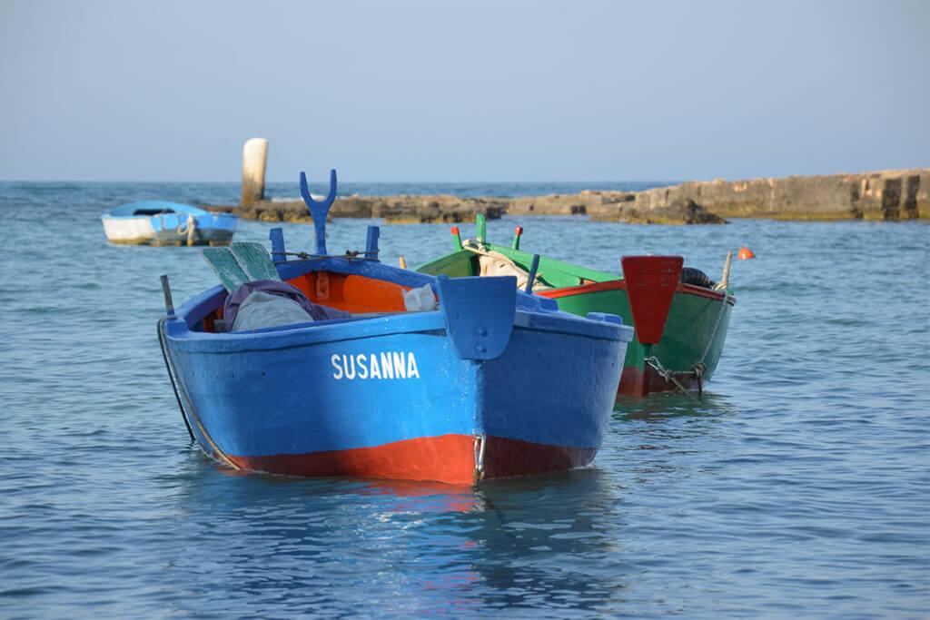 Fischerboote (Gozzi) Hafen von San Vito © Siegbert Mattheis