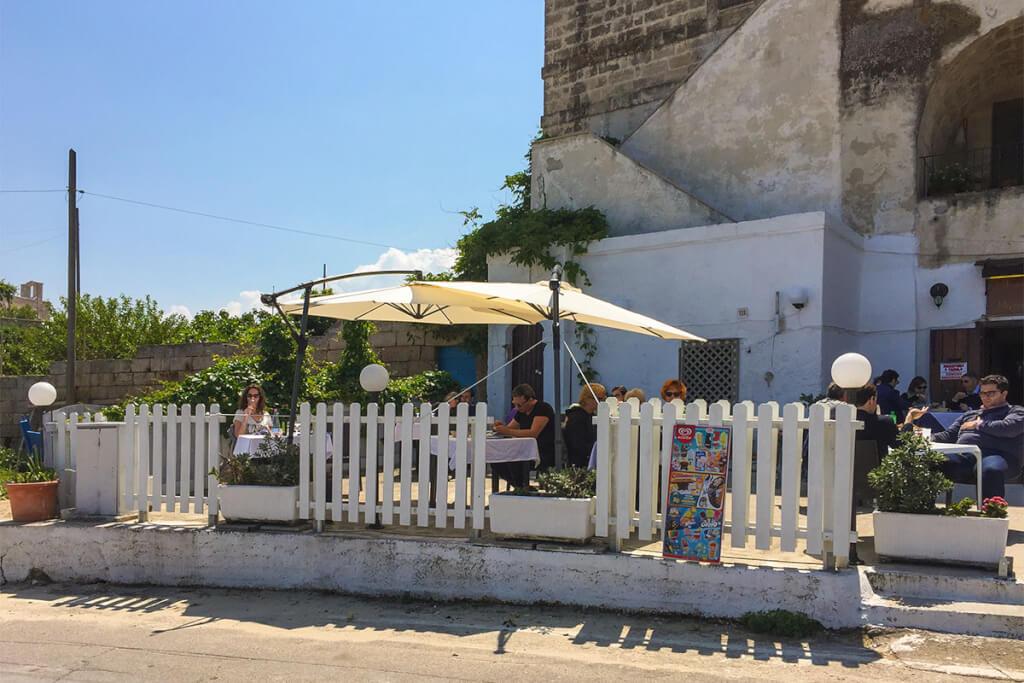 Das Restaurant La Locanda dei Benedittini in San Vito © Siegbert Mattheis