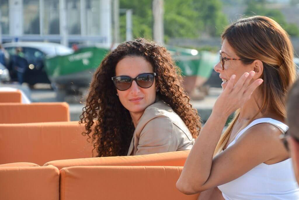 Im Ristorante La Colonna unterhält man sich bei Loungemusik © Siegbert Mattheis