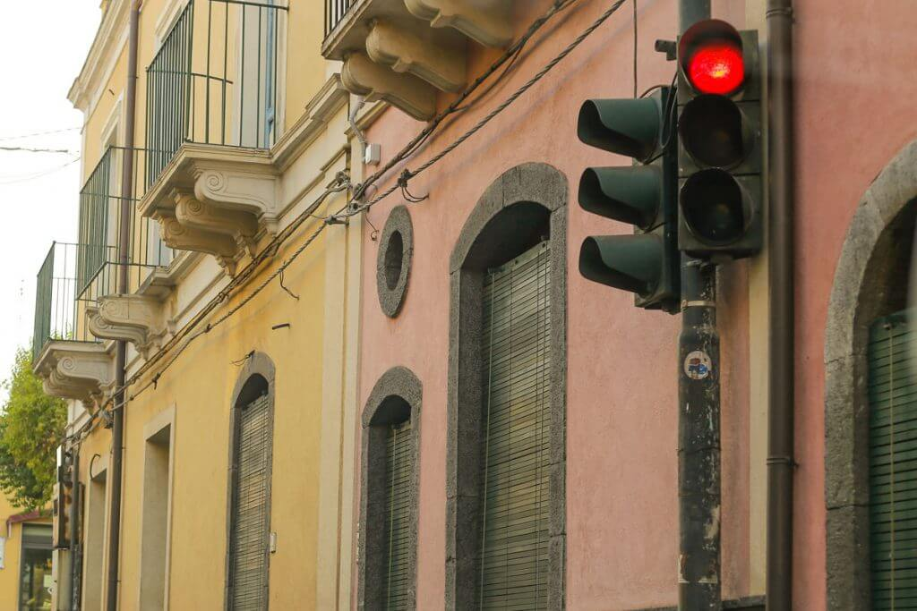 Rote Ampel in Italien