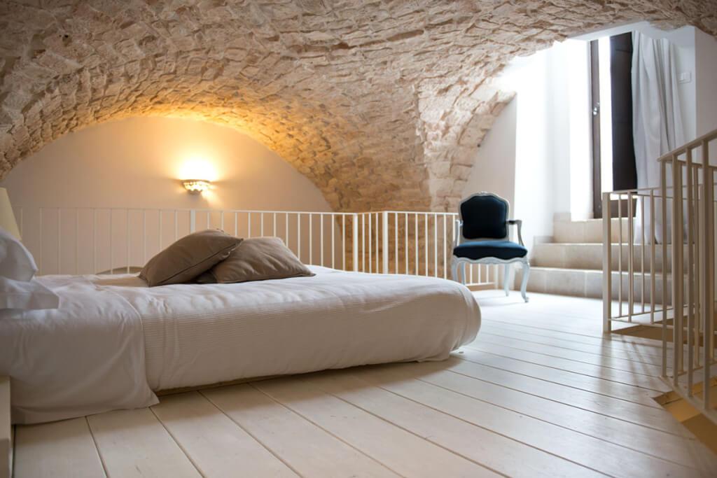 Mittelalterliche Gewölbedecken in einem der Zimmer © Corte Altavilla