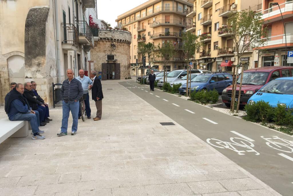 Ausgewiesene Fahrradwege in Apuliens Städten © Siegbert Mattheis