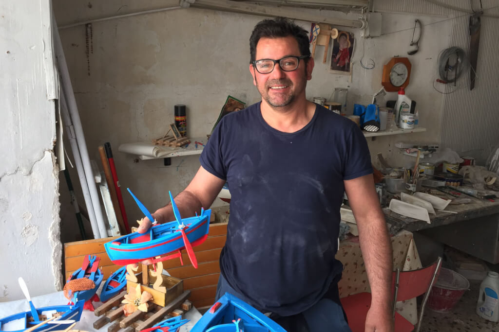 Saverio Civetta in seiner Werkstatt © Siegbert Mattheis
