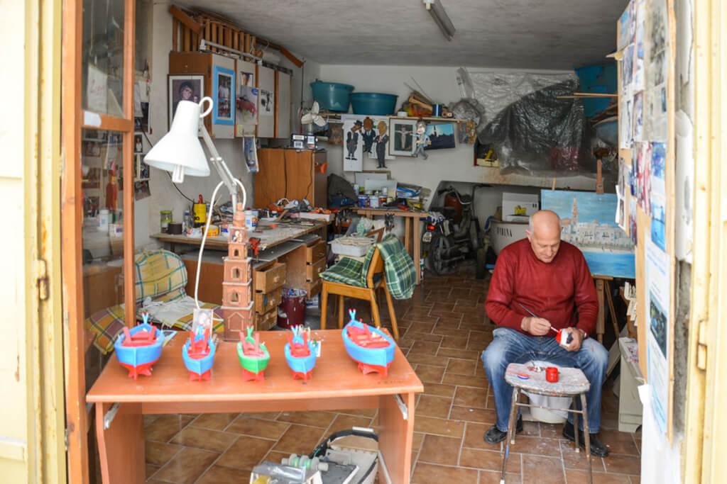 Ignazio Amadeo in seiner Werkstatt © Siegbert Mattheis