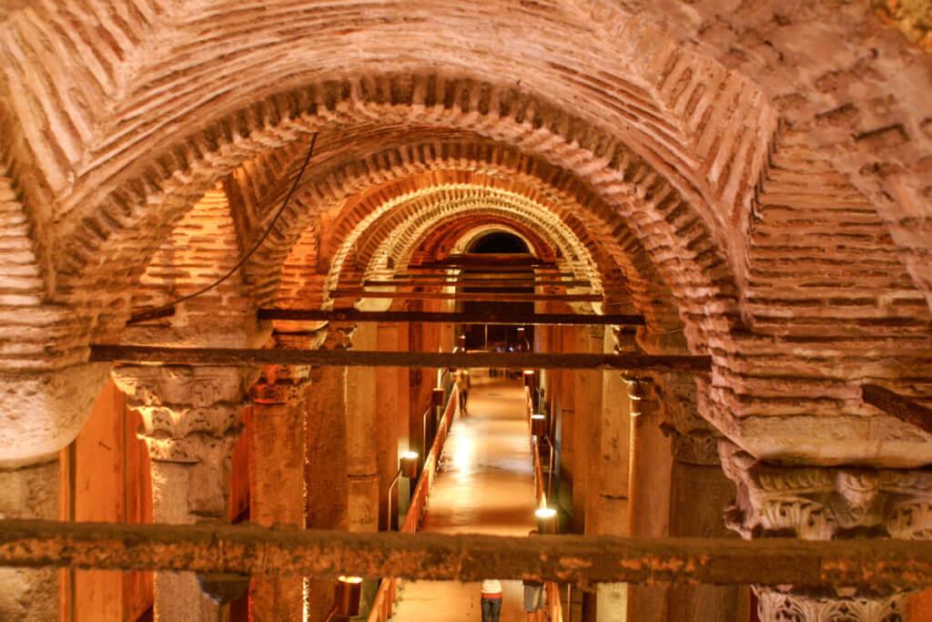 Das Gewölbe der Cisterna Basilica © Siegbert Mattheis
