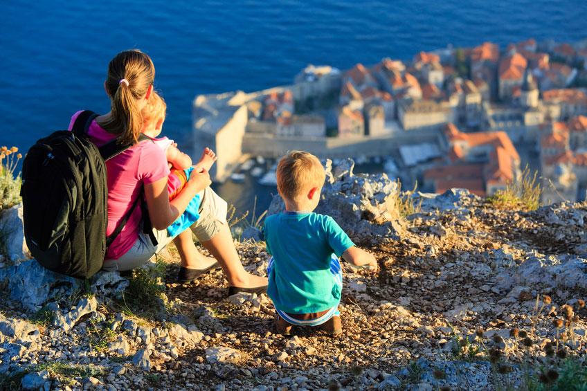 Urlaub mit der Familie am Mittelmeer