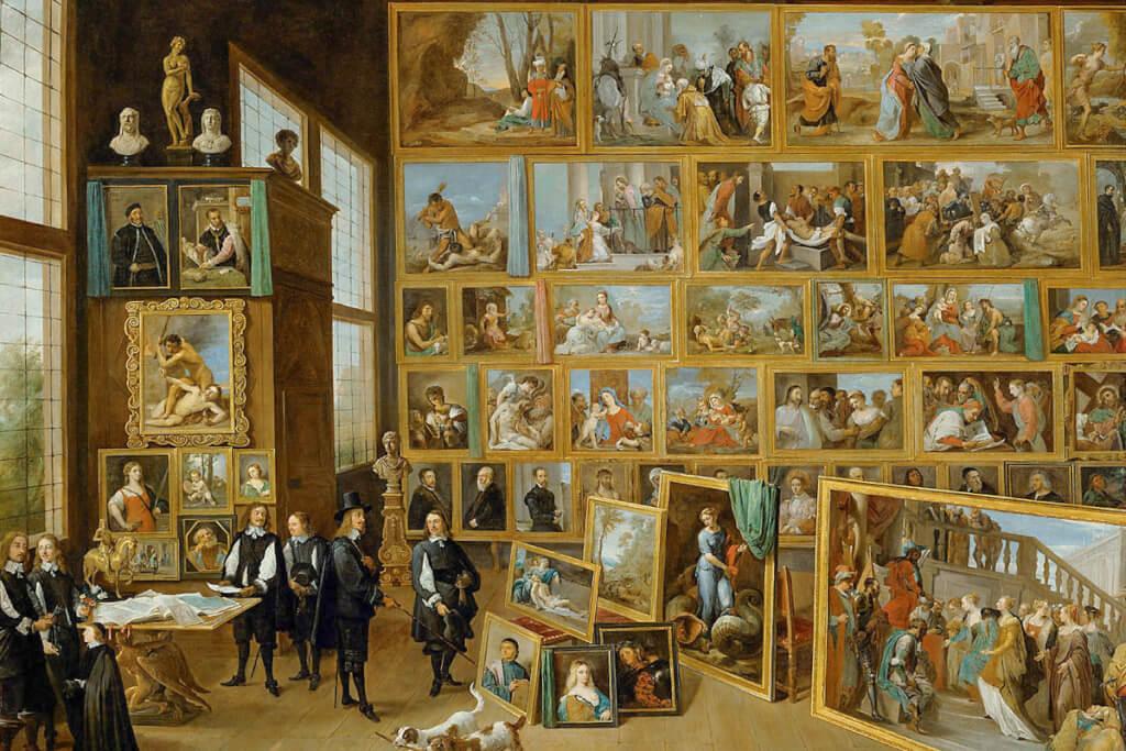 Erzherzog Leopold Wilhelm und seine Künstler in der erzherzöglichen Gemäldegalerie in Brüssel @ Wikipedia