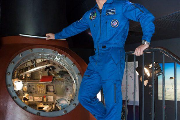 Cité de l'espace - der Astronaute Thomas Pesquet ESA