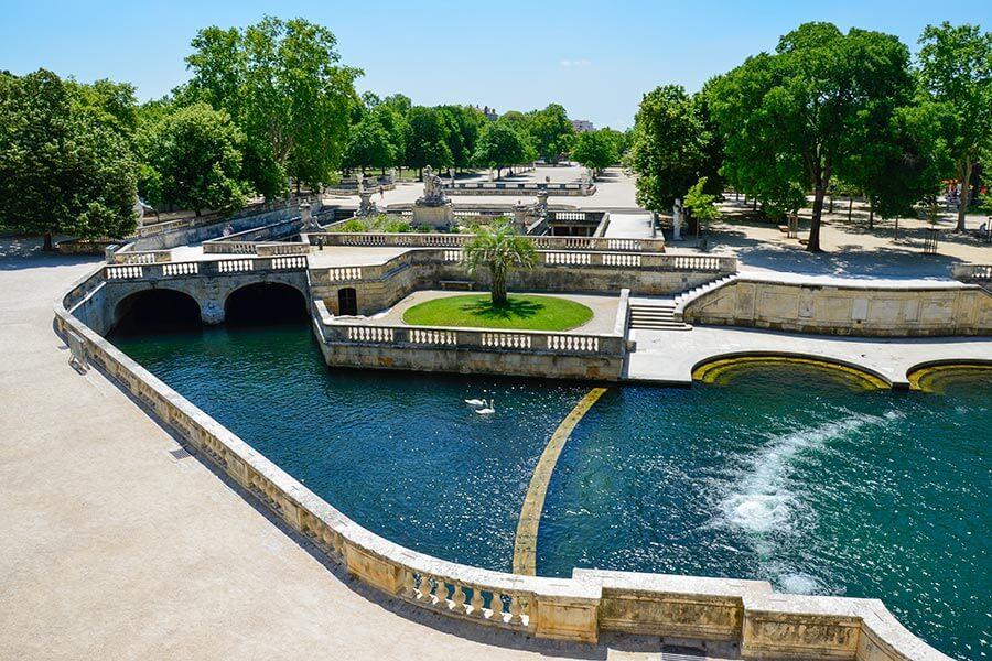 Jardins de la Fontaine in Nimes © Siegbert Mattheis