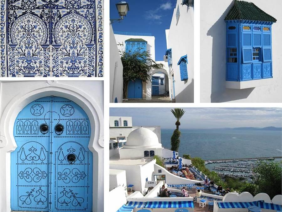Mediterrane Farben Marokko, Tunesien etc