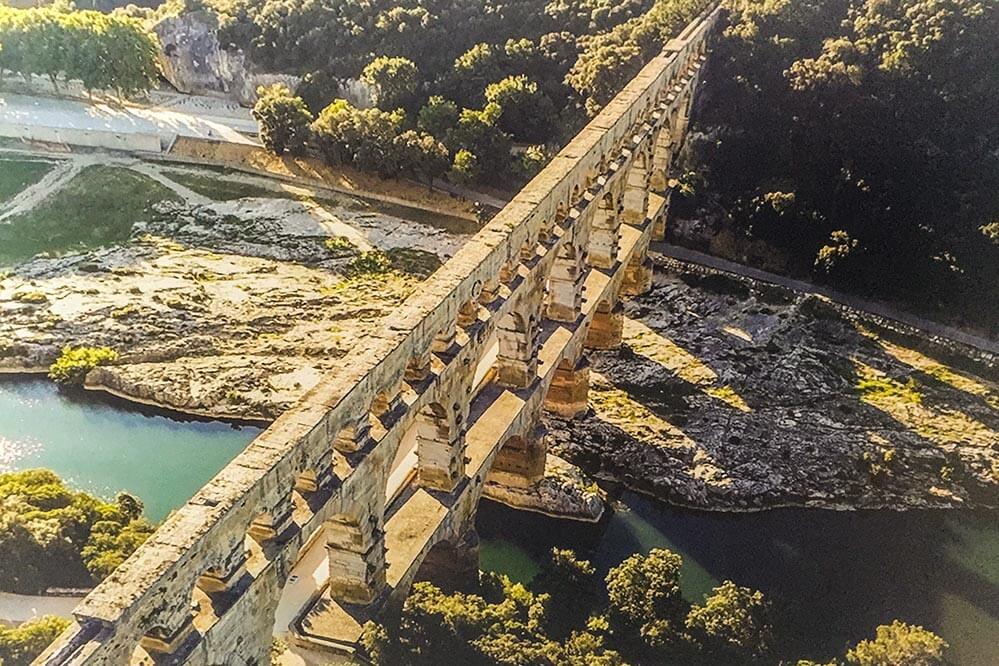 Der Pont du Gard von oben © Siegbert Mattheis