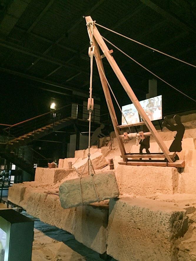 So bewegten die Römer die riesigen Blöcke © Siegbert Mattheis