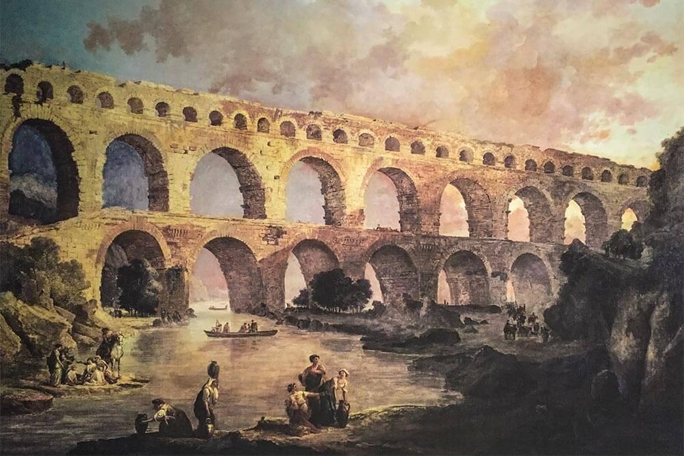 Gemälde von Hubert Robert im Museum des Pont du Gard