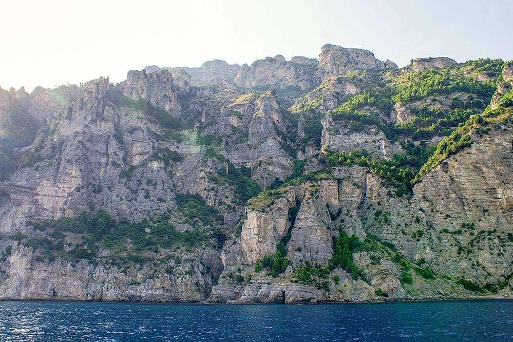 Die Amalfitana vom Meer aus © Siegbert Mattheis