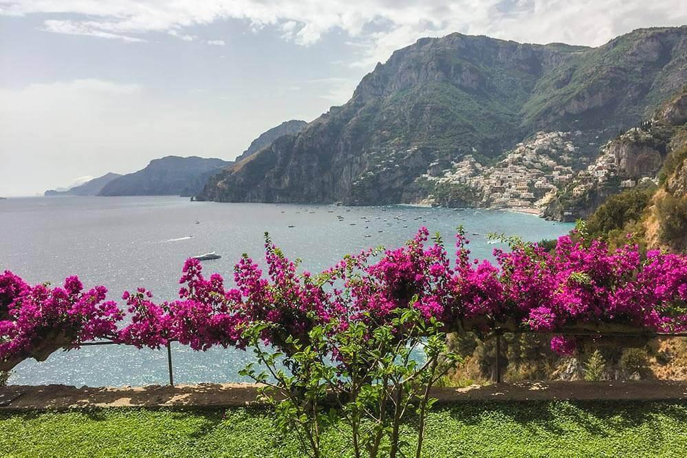 Blick vom Hotelgarten San Pietro auf Positano an der Amalfiküste © Siegbert Mattheis