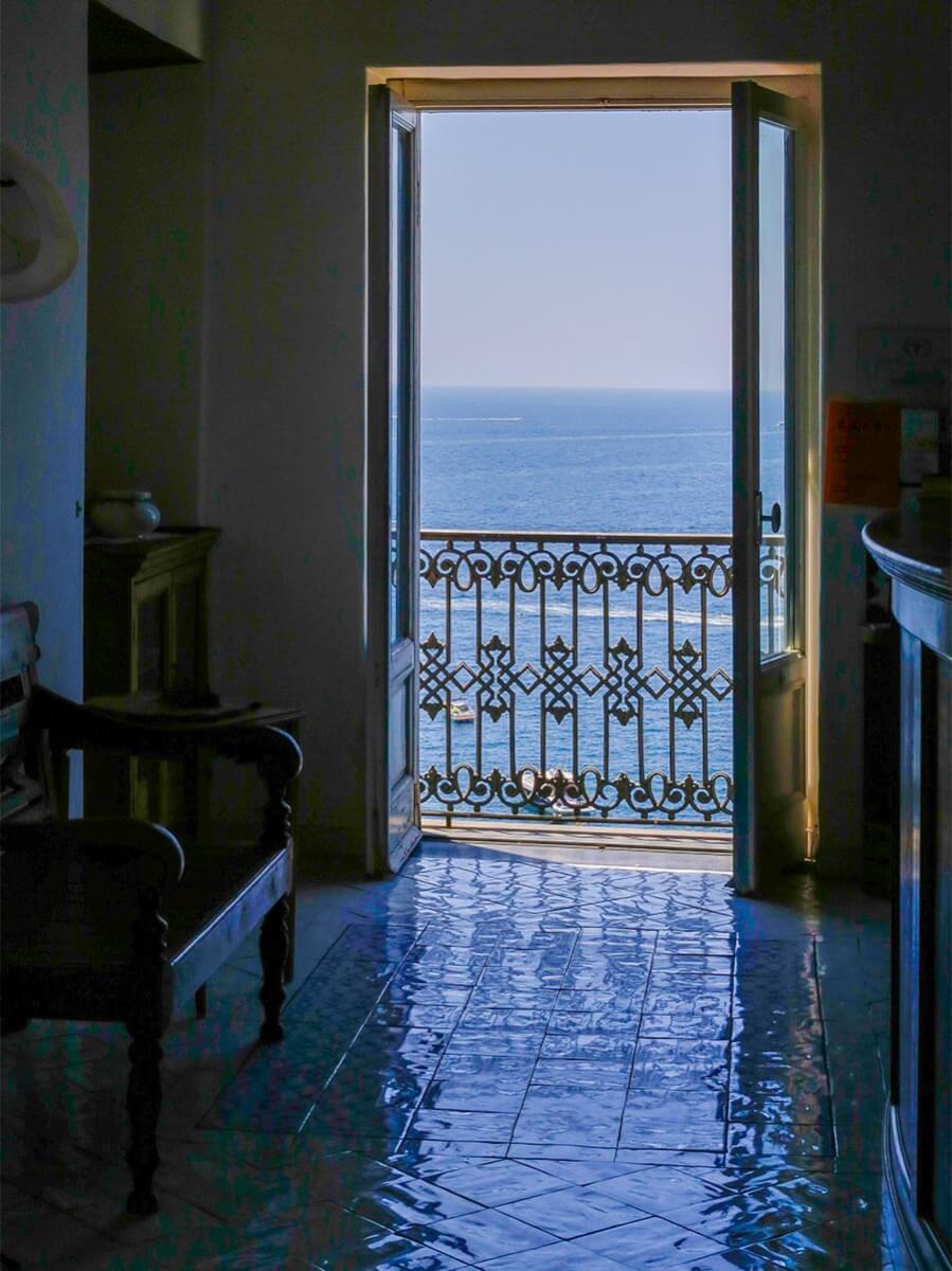 Das charmante Hotel La Casa sul Mare mit Meerblick © Siegbert Mattheis