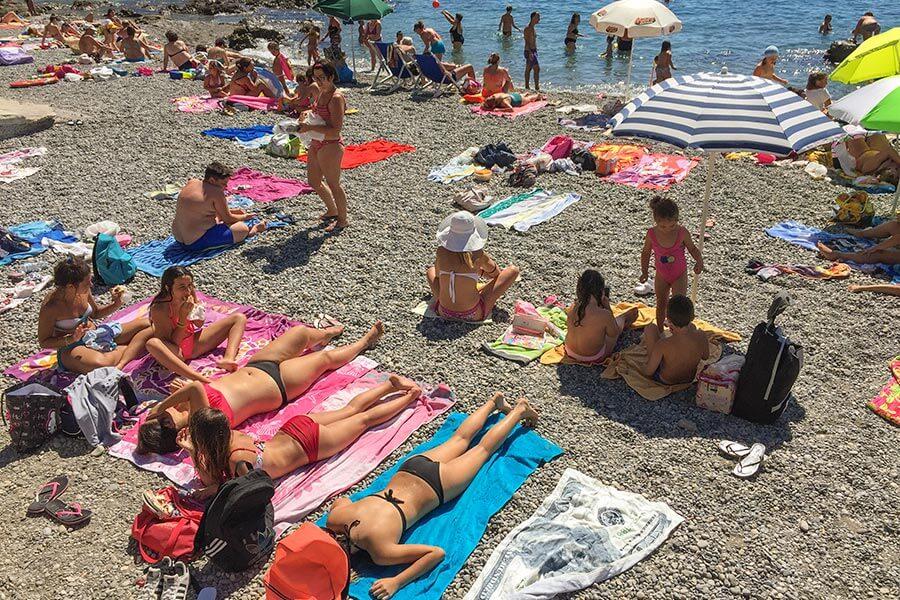 Der öffentliche Strand in Amalfi © Siegbert Mattheis