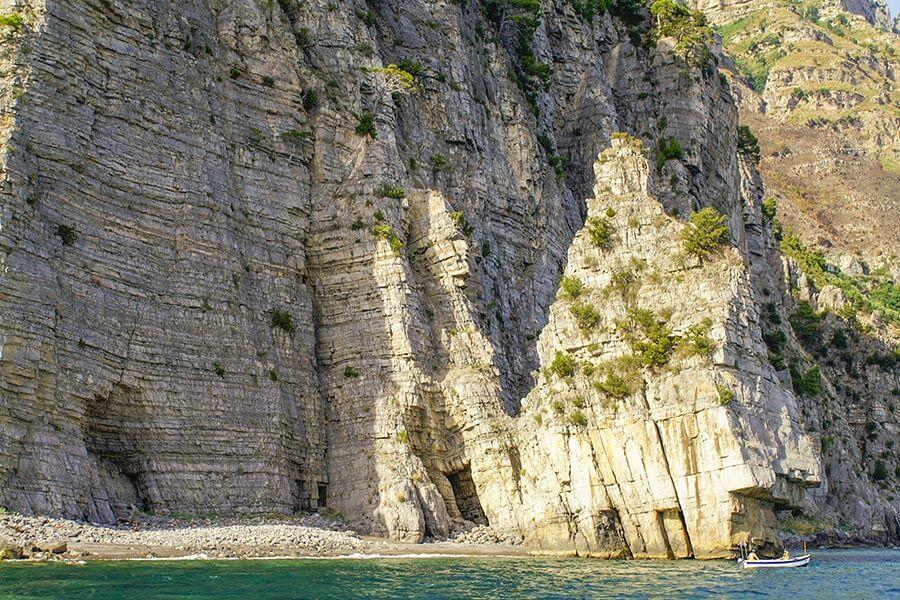 Einsame Badebucht hinter Positano © Siegbert Mattheis
