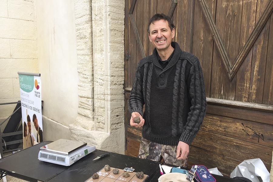 Paul Philippe auf dem Trüffelmarkt in Carpentras © Siegbert Mattheis