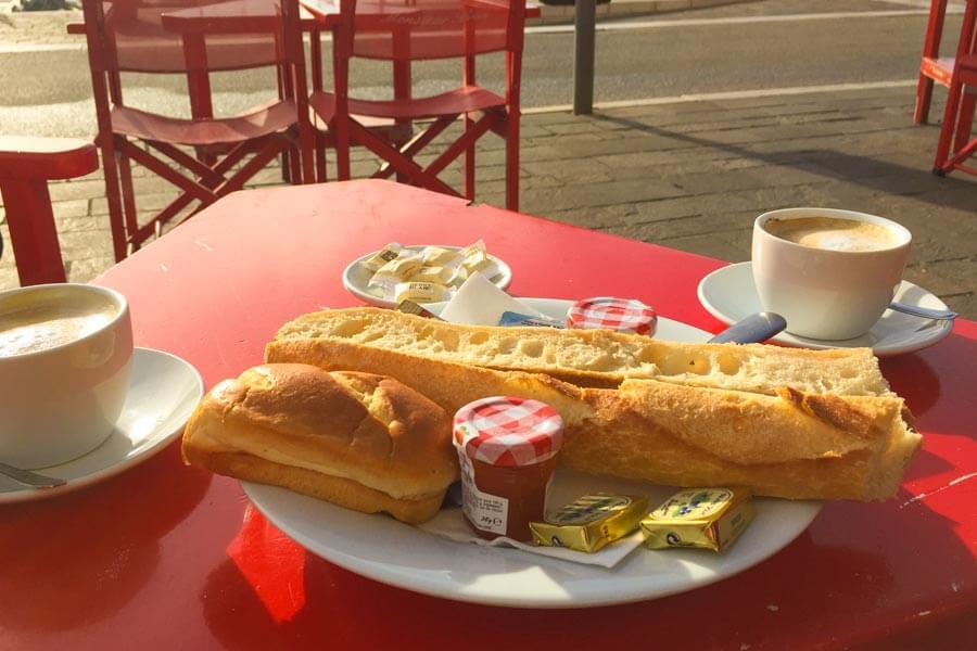 Frühstück im Monsieur Brun