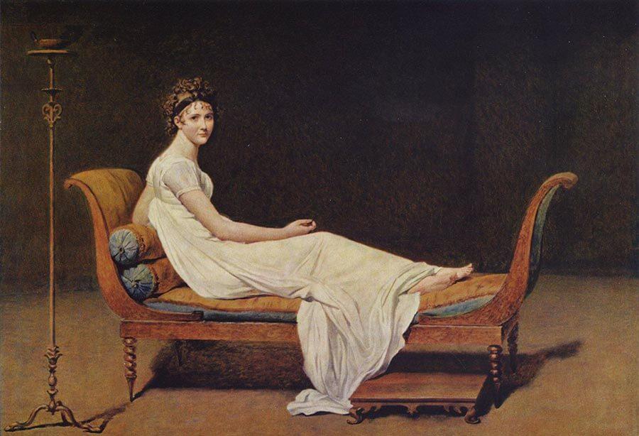 Juliette Recamier auf einer Recamiere © Wikipedia