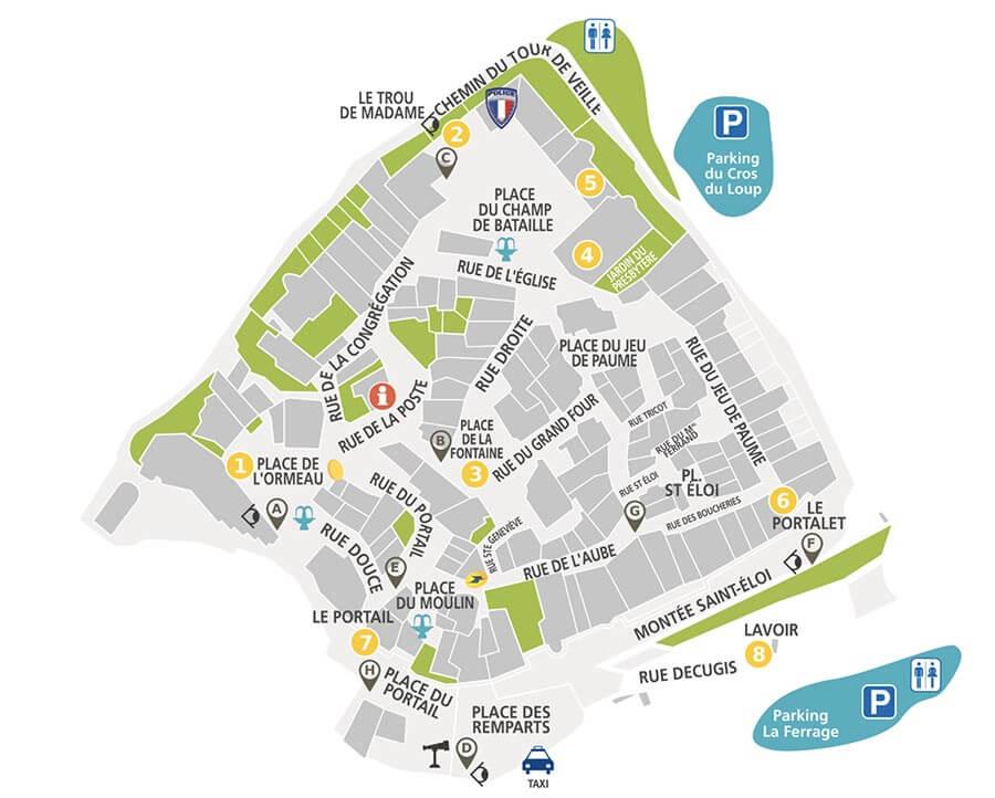 Le Castellet Dorfplan @ OT Le Castellet