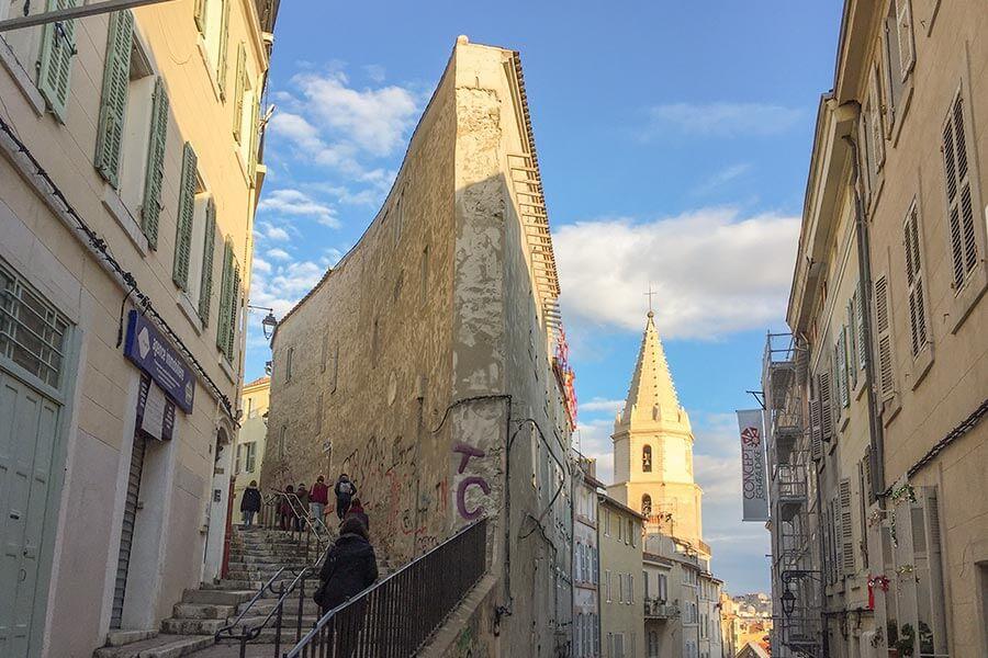 Das alte Panier Viertel, der historische Kern von Marseille
