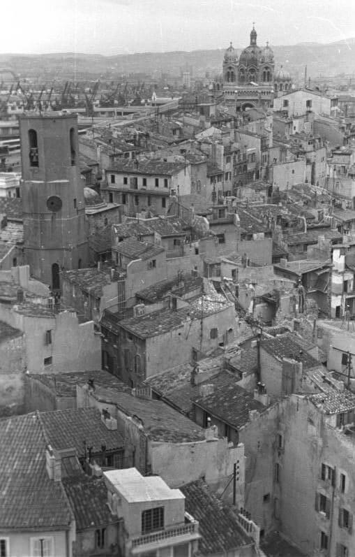 Le Panier Viertel vor der Sprengung © Wikipedia, Bundesarchiv