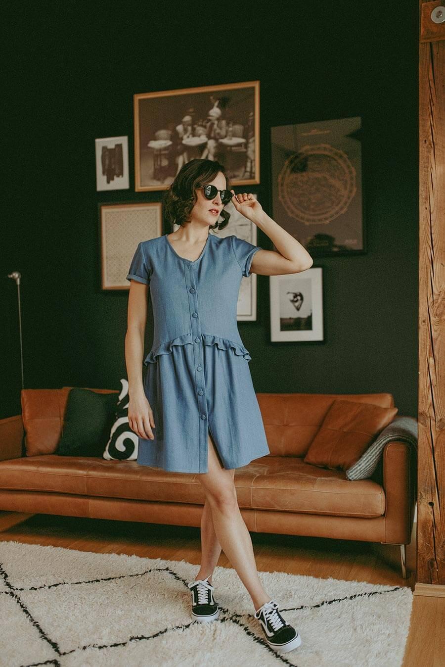 Anne Durrieu Jeans-Kleid Violette © Vanessa Madec