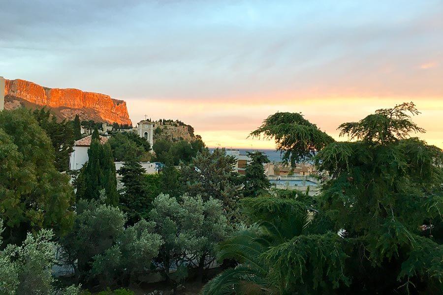 Der wunderbare Ausblick auf Cap Canaille, das Schloss auf dem Felsen und aufs Meer © Claudia Mattheis