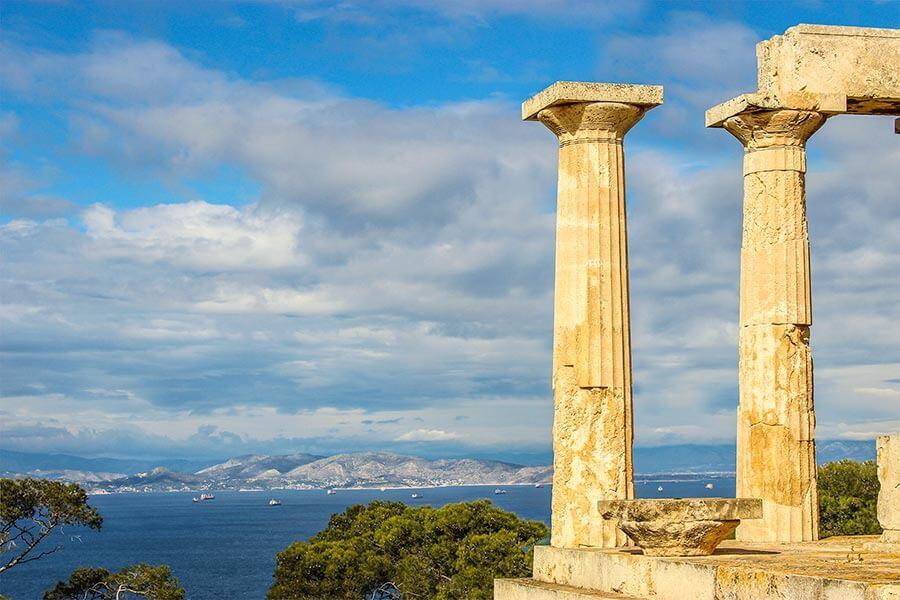 Blick auf Piräus und Athen vom Tempel aus © Siegbert Mattheis