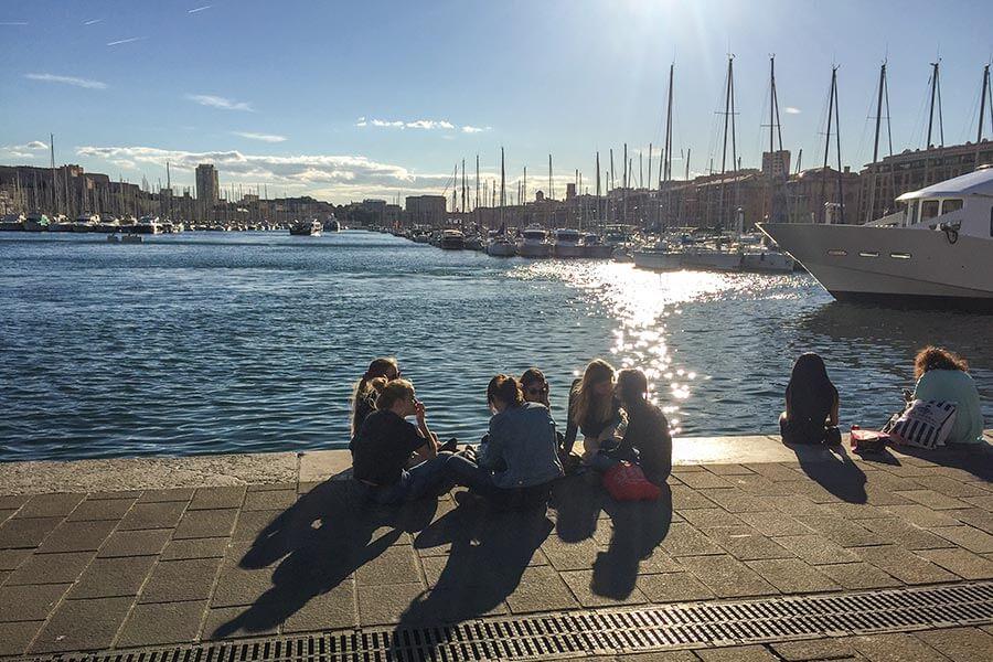 Relaxen am Alten Hafen in Marseille © Siegbert Mattheis